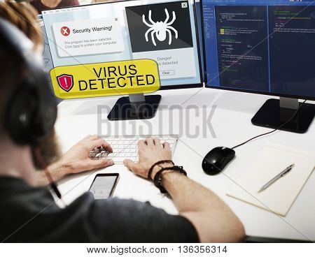 Computer Virus Detected Concept