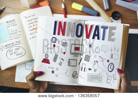Innovate Strategy Planning Tactics Ideas Concept