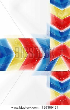 Colorful arrows composition. Vector web brochure, internet flyer, wallpaper or cover poster design.
