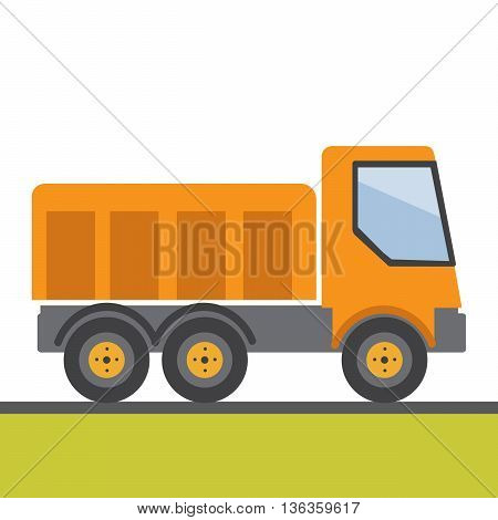 yellow wheel building vector flat illustration eps10
