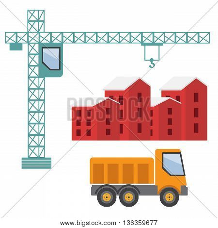Under construction. Building business. Construction industry eps10