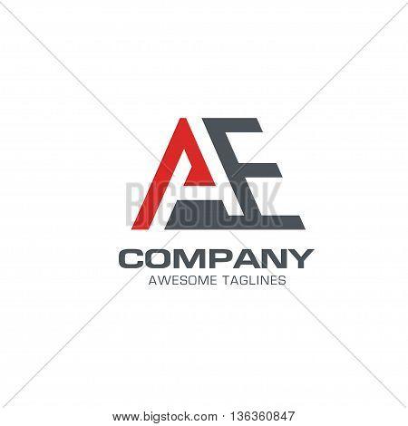 creative letter AE logo vector. AE logo template