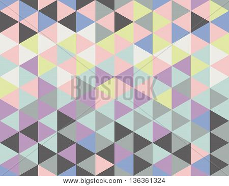 Seamless pattern with triangles with cool and warm pastel colors. Colors of trendy pallettes 2016