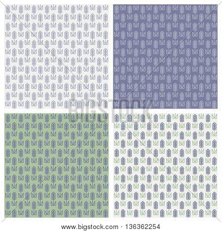 Floral pattern with Lavender for packing. Vector illustration bundle.
