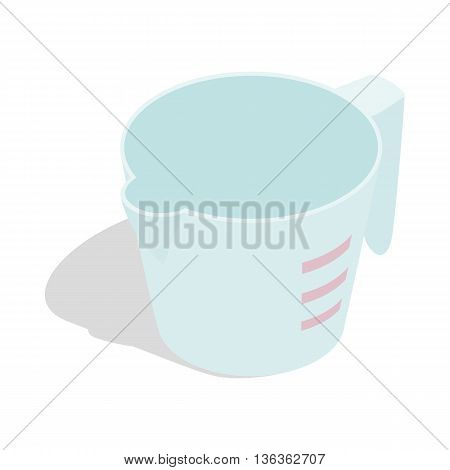 Measuring cup icon in isometric 3d style isolated on white background. Baking tools symbol