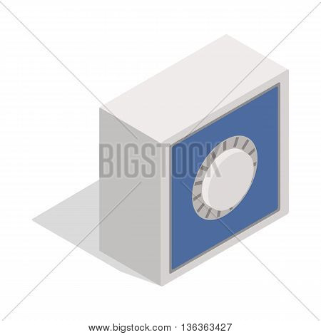 Safety deposit box icon in isometric 3d style isolated on white background. Money symbol