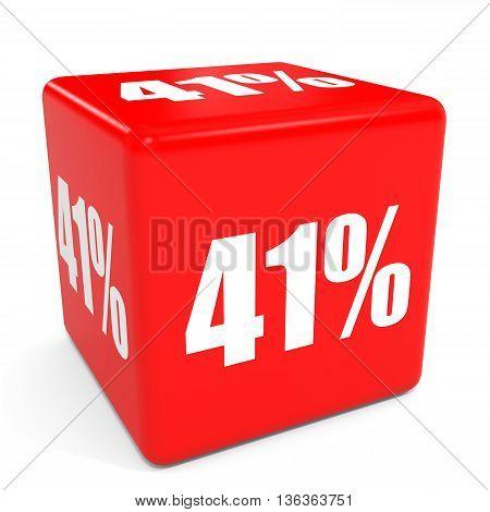 3D Red Sale Cube. 41 Percent Discount.
