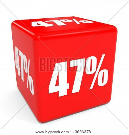 3D Red Sale Cube. 47 Percent Discount.
