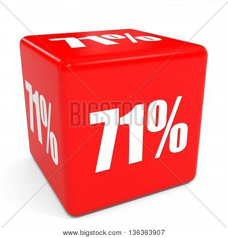 3D Red Sale Cube. 71 Percent Discount.