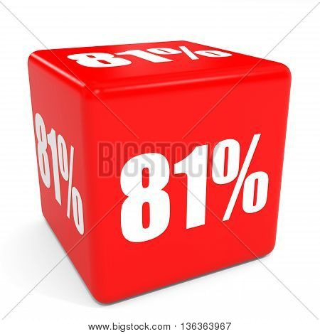 3D Red Sale Cube. 81 Percent Discount.
