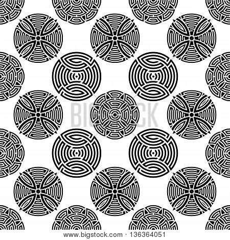 Black seamless ornamental pattern creative vector illustration