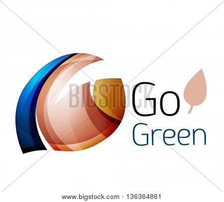 Go green. Leaf nature concept. icon