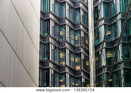 Abstract architecture of a modern building in London