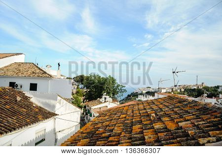Rooftops of Benalmadena, Costa Del Sol, Andalucia, Spain