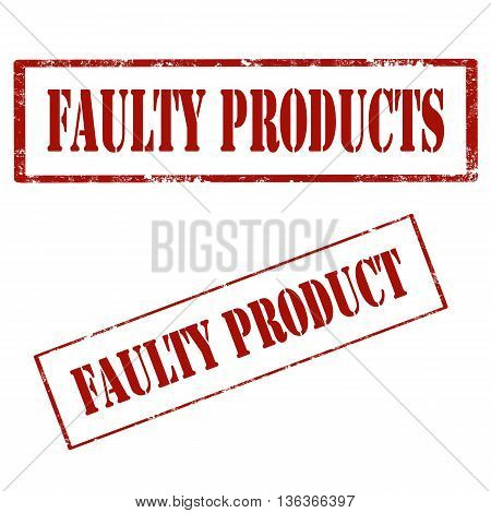 Set of grunge rubber stamps with text Faulty Product,vector illustration