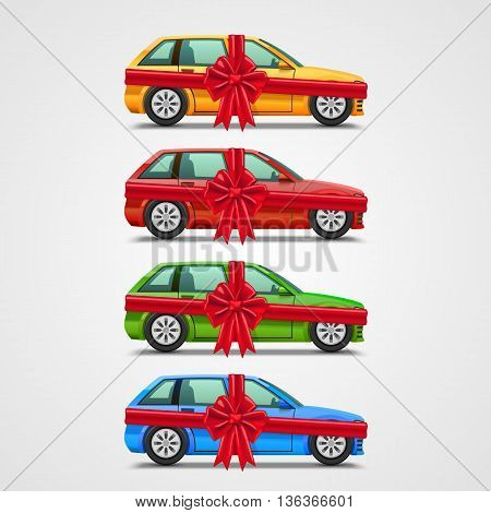 Car gift color set, template design element