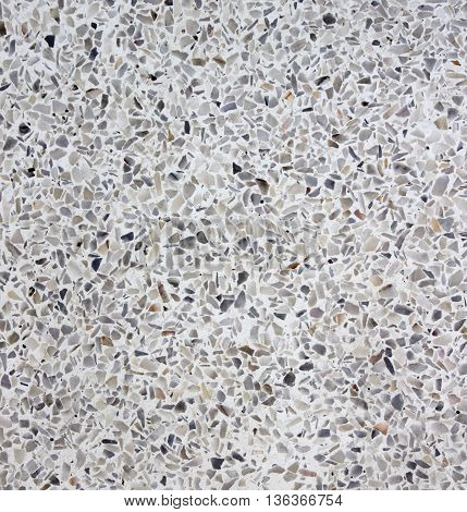 The terrazzo wall floor for background texture