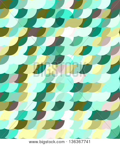 Bright green palette circles seamles pattern. Transparent objects eps 10
