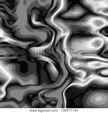 art abstract monochrome graphic fractal wave blurred black and white background
