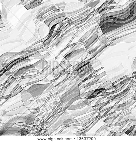 art abstract monochrome chaotic grunge graphic black and white background, waves seamless pattern