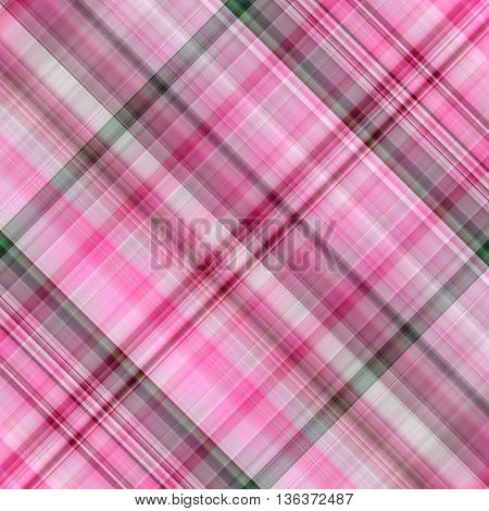 Abstract pink background with diagonal squared and lines - pattern for cotton and linen fabrics. It can be used for summer and spring clothes kitchen towels and napkins handkerchiefs linens tablecloth.