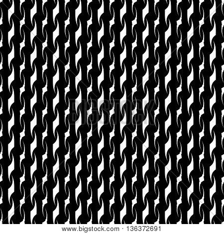 Wavy line white seamless pattern. Fashion graphic background. Modern stylish abstract texture. Monochrome template for prints textiles wrapping wallpaper website. VECTOR illustration