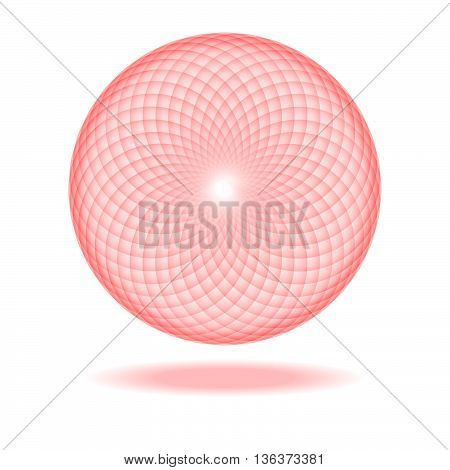 Sacred Geometry. Abstract sphere. Illustration. Rasterized Copy.
