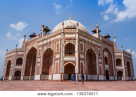 Beautiful view of Humayun's Tomb UNESCO World Heritage Centre Delhi