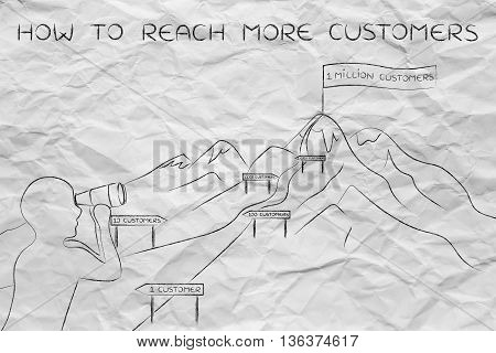 How To Reach More Customers, Man Looking At Path To Hike