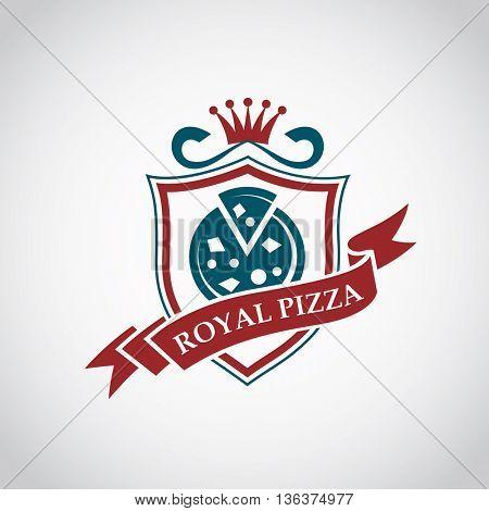 restaurant design of royal pizza label