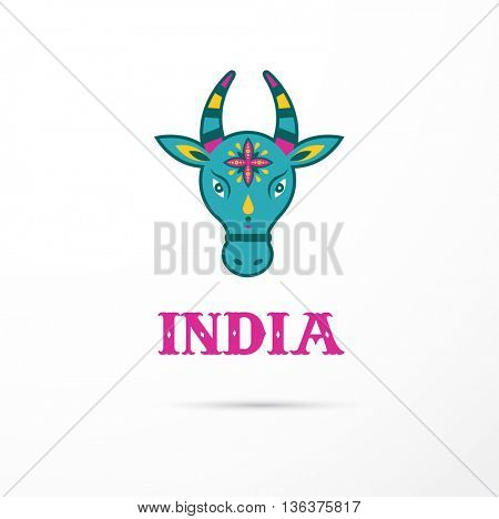 India - hindu cow Indian icon