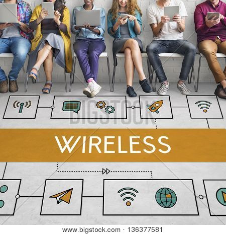 Connection Wireless Online Transmission Transfer Concept