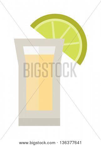 Lime drink vector illustration.