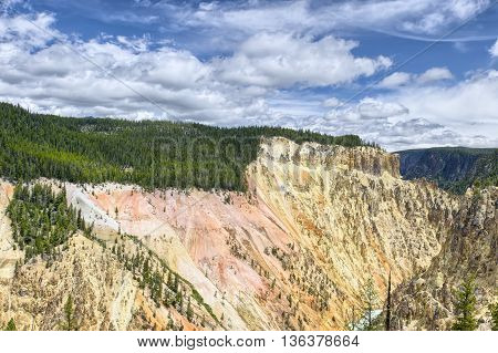 Yellowstone Canyon in Yellowstone National Park, Montana