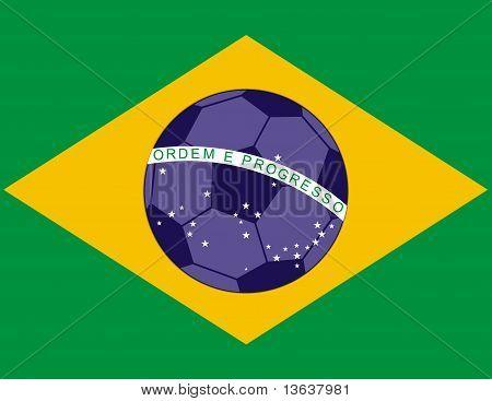 Brazil Football Soccer Flag