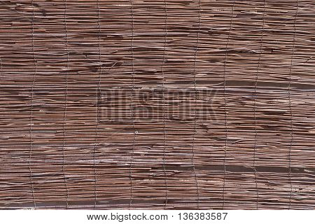 uneven corrugated texture from old wooden rods for an abstract background and for wallpaper