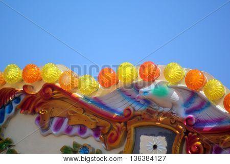 abstract Seaside Scene of a Funfair Carousel Weymouth Dorset England