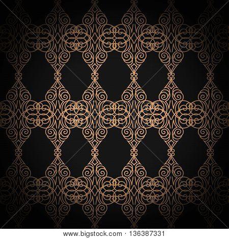 premium damask seamless elegant pattern background for decor.