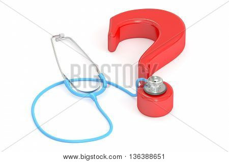 Medical question concept 3D rendering isolated on white background