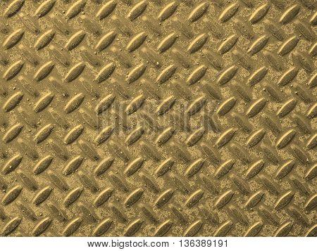 Grey Steel Diamond Plate Background Sepia