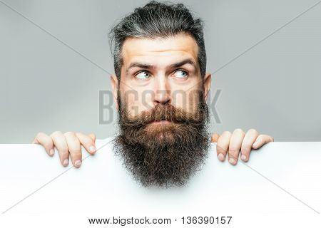 Bearded Surprised Man With Paper