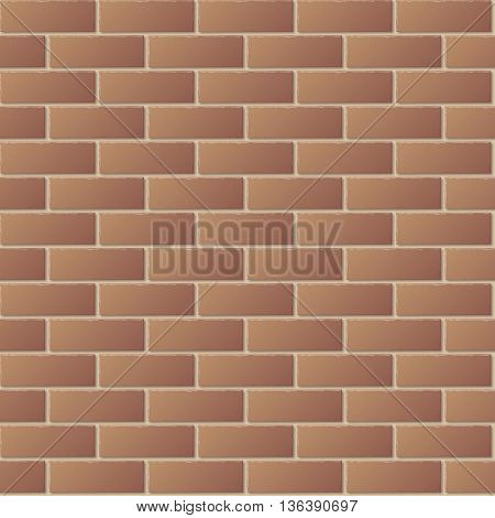 Brown Brick Wall Seamless Pattern for Continuous Replicate