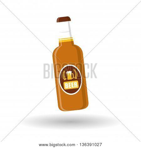 Bottle of beer, alcohol drink, vector design illustration