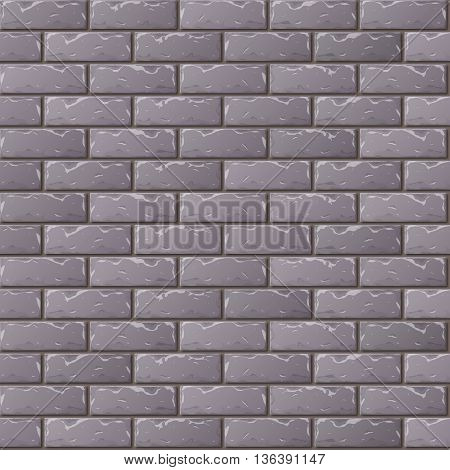 Old Gray Brick Wall Seamless Pattern for Continuous Replicate