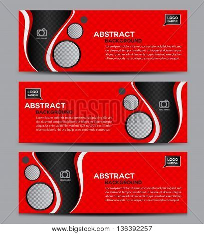 Red Abstract Business Banner Template vector illustration