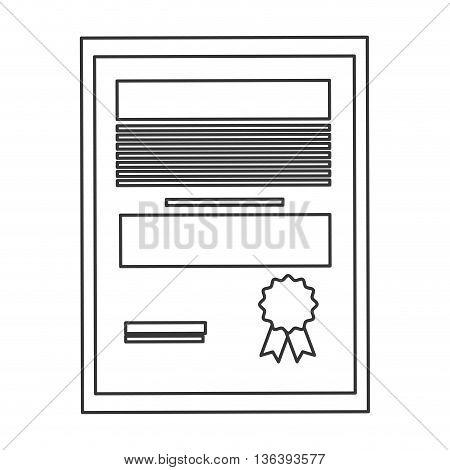 simple black line diploma degree icon vector illustration