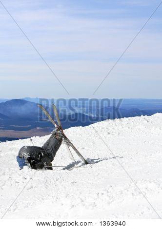 Derrota de esquiadores