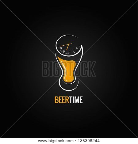 beer glass party time concept design background 8 eps
