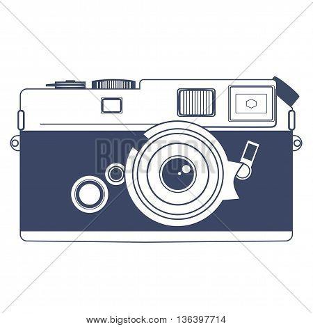 Vintage Retro Camera Vector Clipart Art Illustration