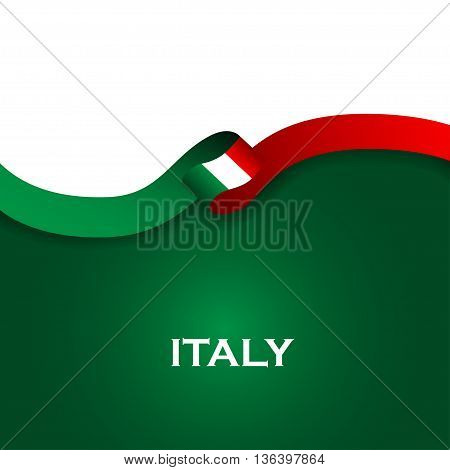 Italy Sport Style Flag Ribbon Classic Style. Vector Illustration